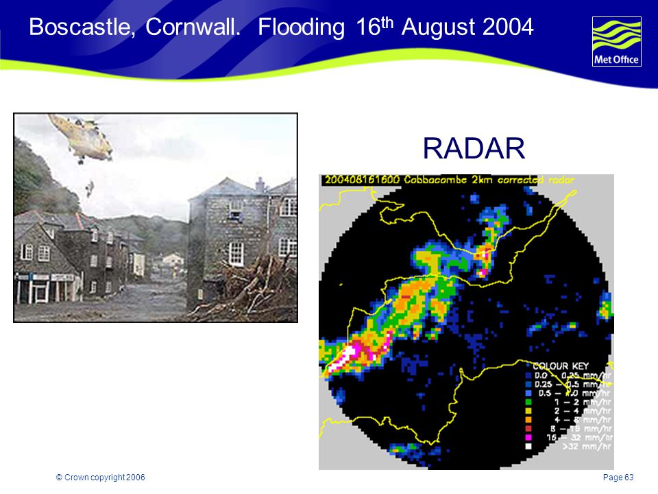 Boscastle, Cornwall. Flooding 16th August 2004
