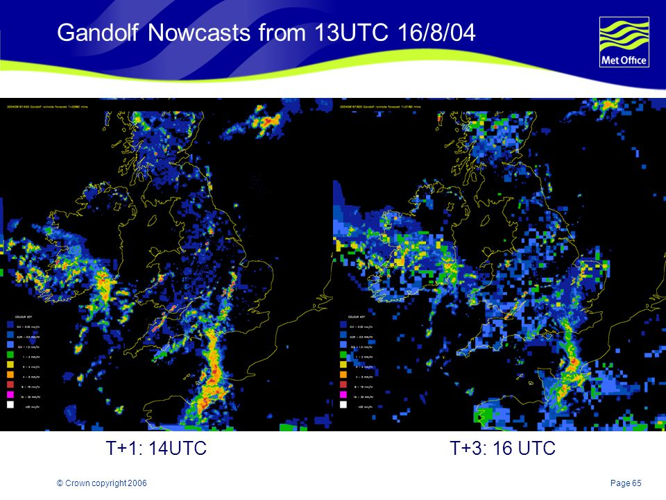 Gandolf Nowcasts from 13UTC 16/8/04