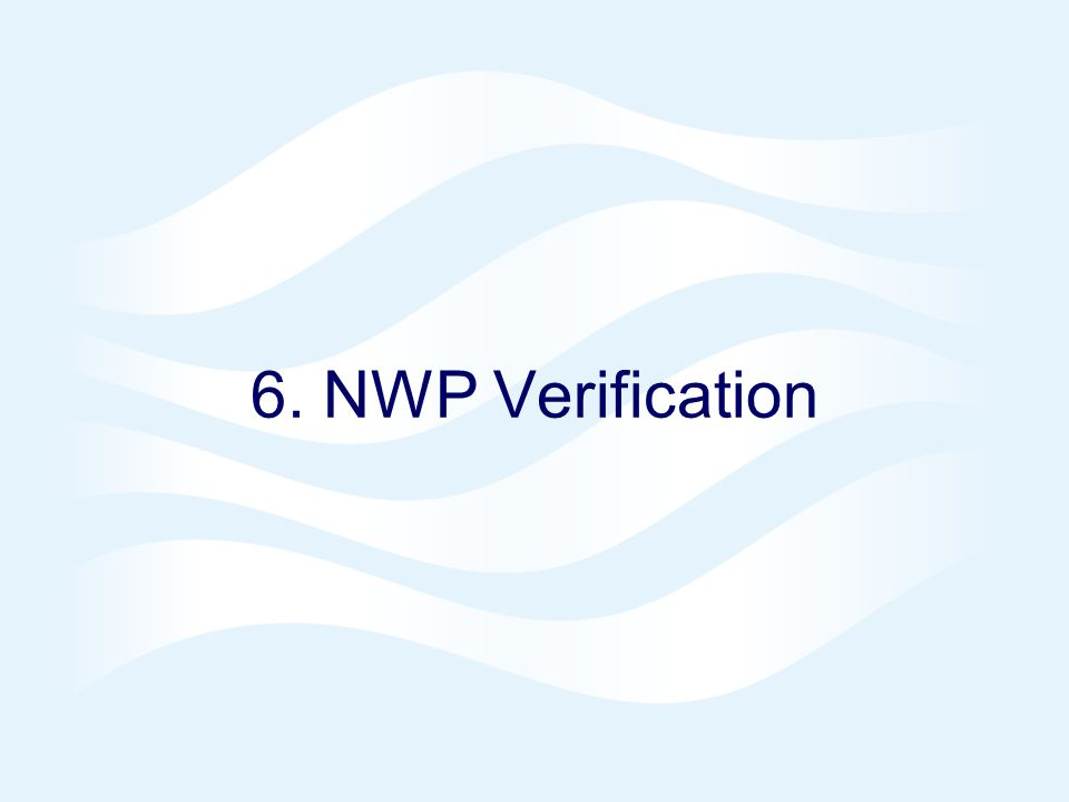 6. NWP Verification