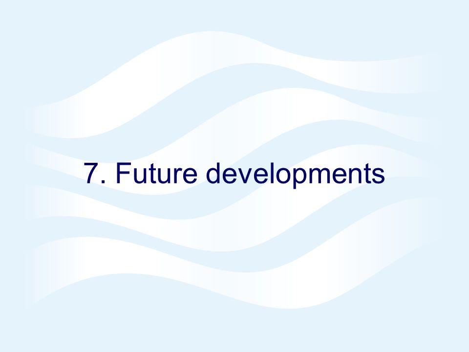 7. Future developments
