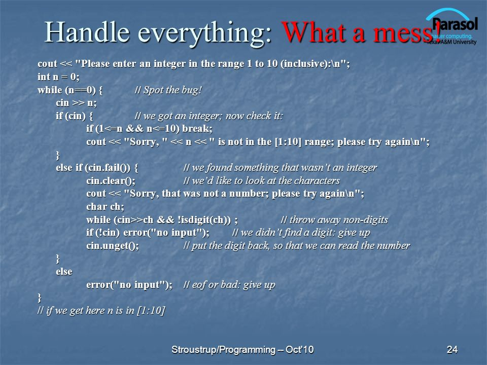 Handle everything: What a mess!