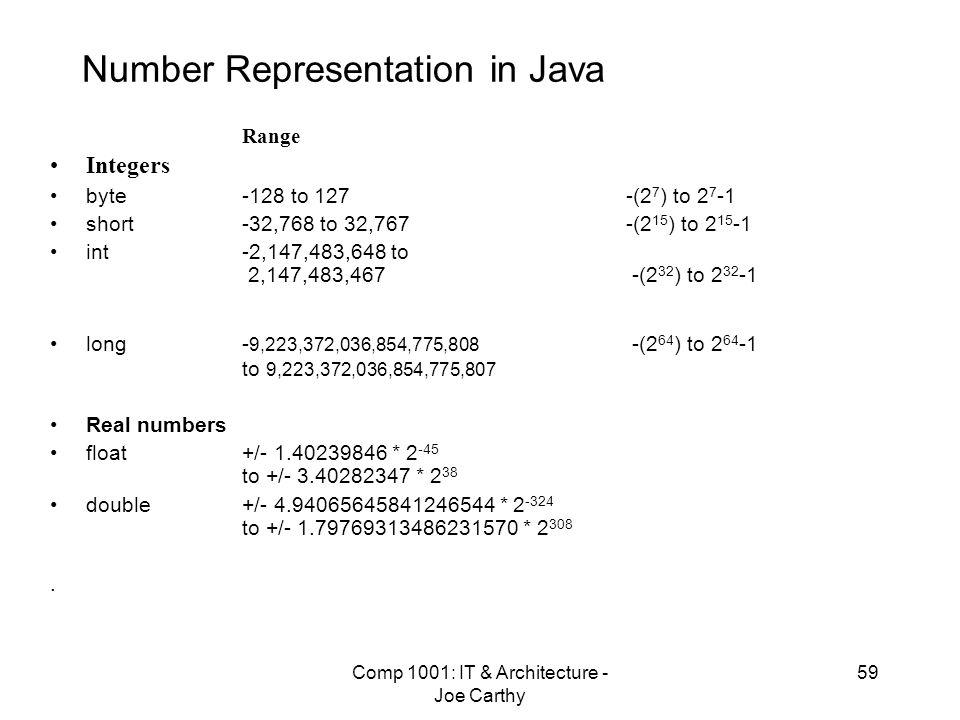 Number Representation in Java