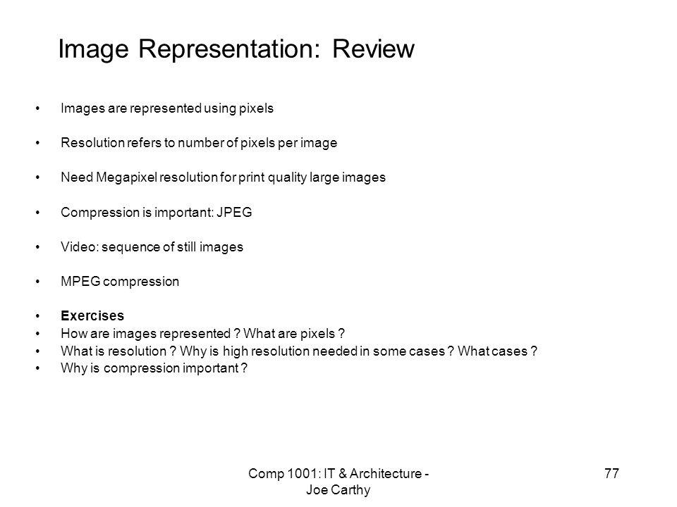 Image Representation: Review