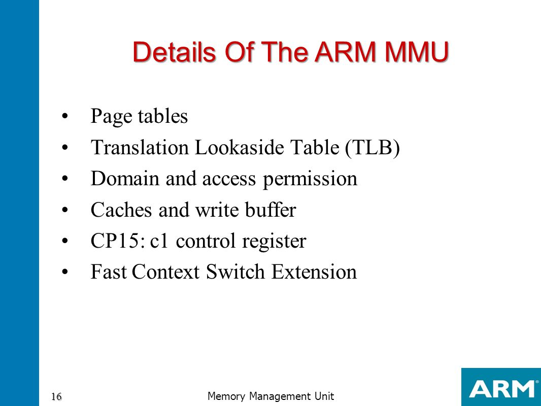 Memory Management Unit