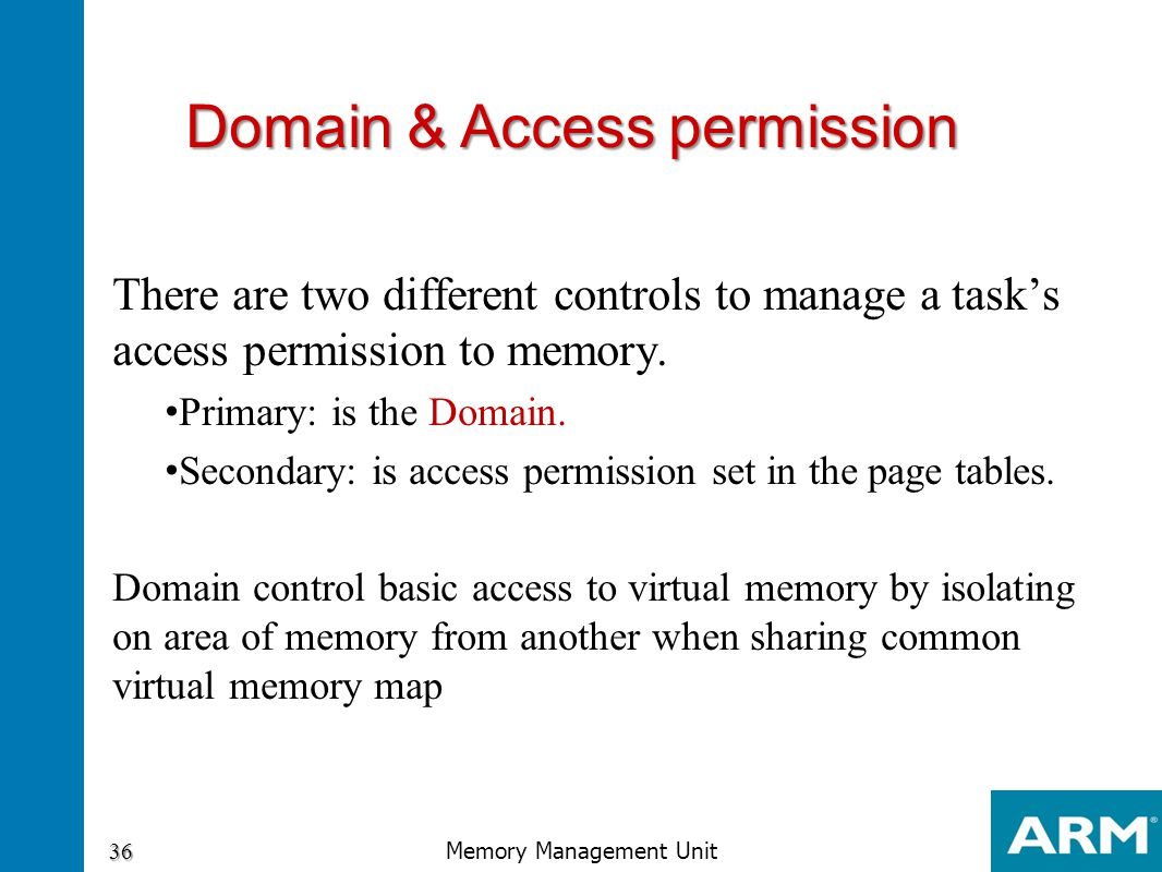 Domain & Access permission