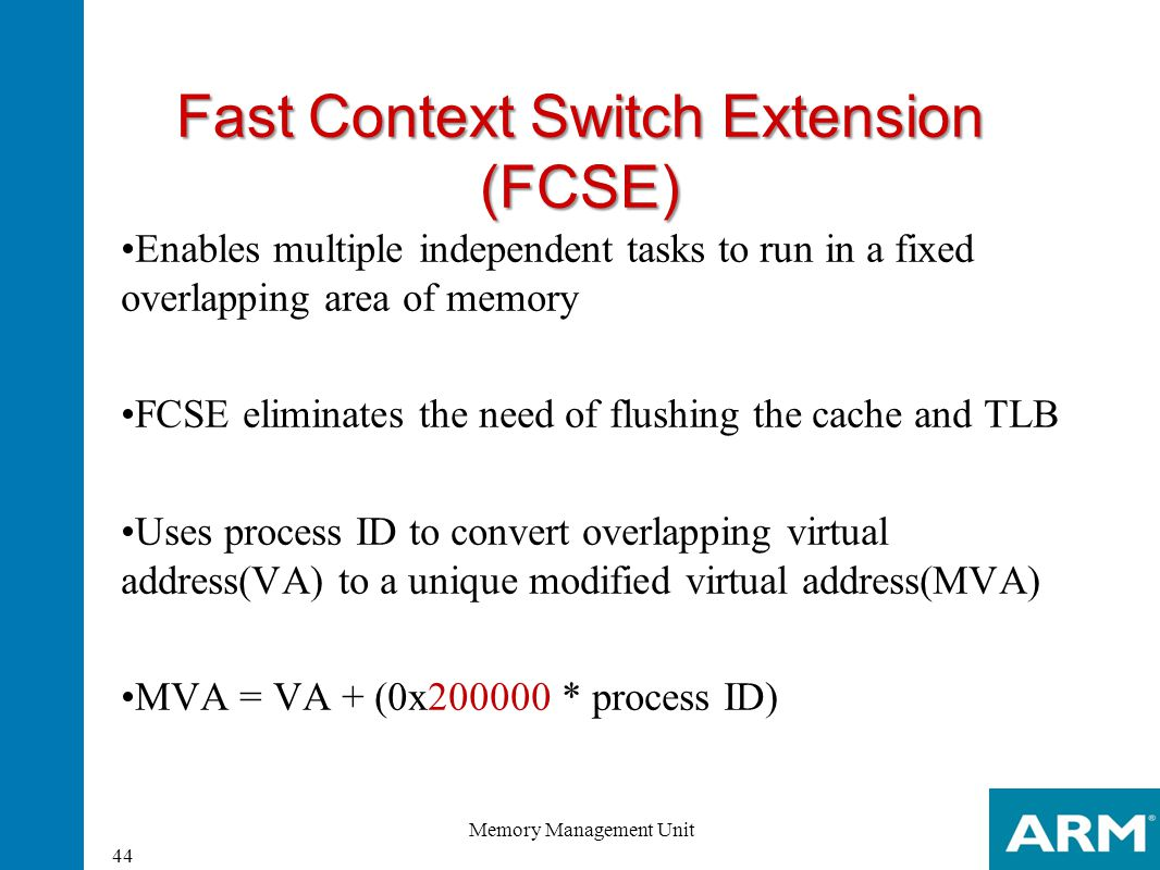 Fast Context Switch Extension (FCSE)