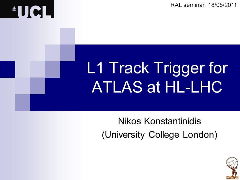 L1 Track Trigger for ATLAS at HL-LHC
