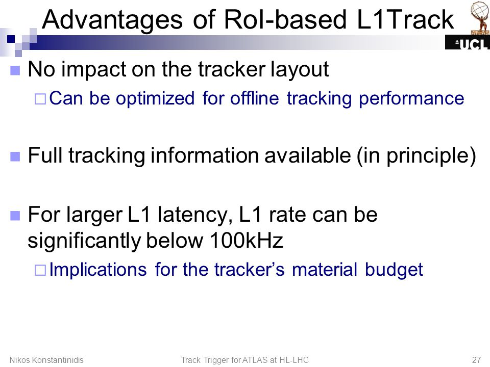Advantages of RoI-based L1Track