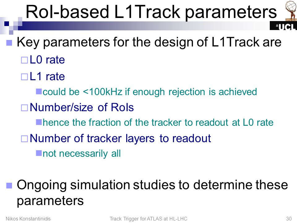 RoI-based L1Track parameters