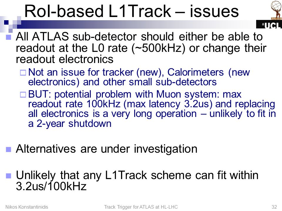 RoI-based L1Track – issues