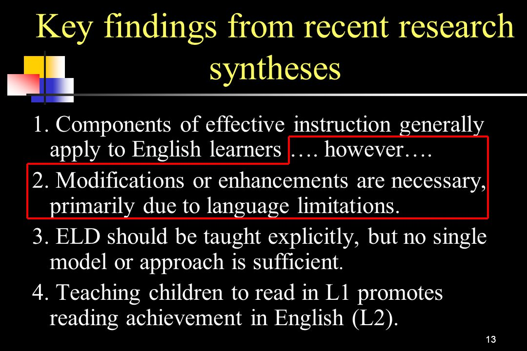 Key findings from recent research syntheses