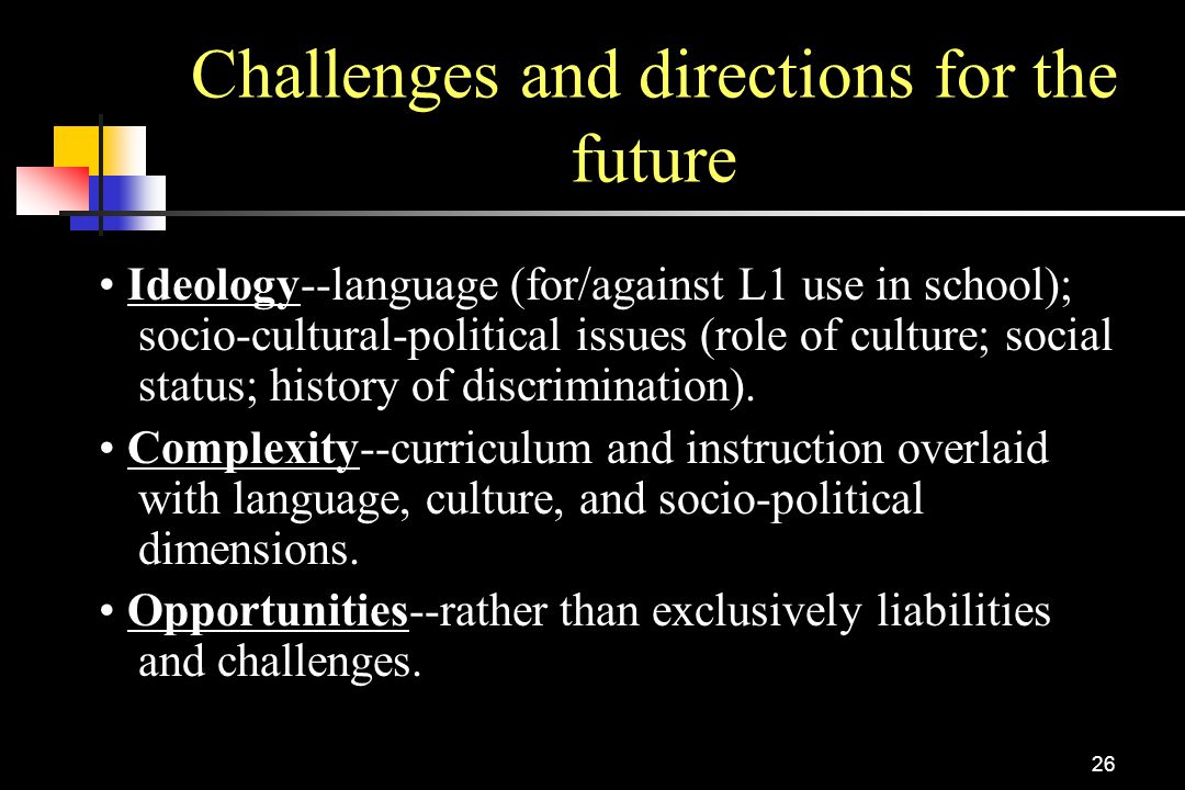Challenges and directions for the future