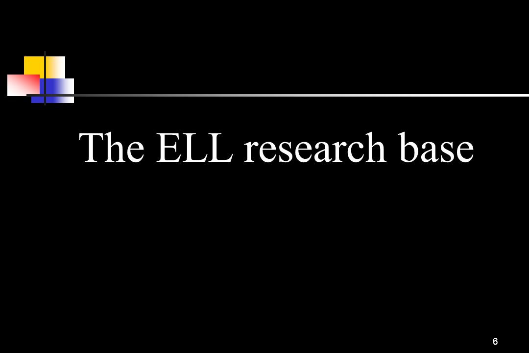 The ELL research base