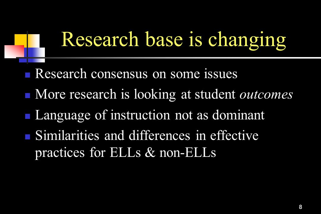 Research base is changing