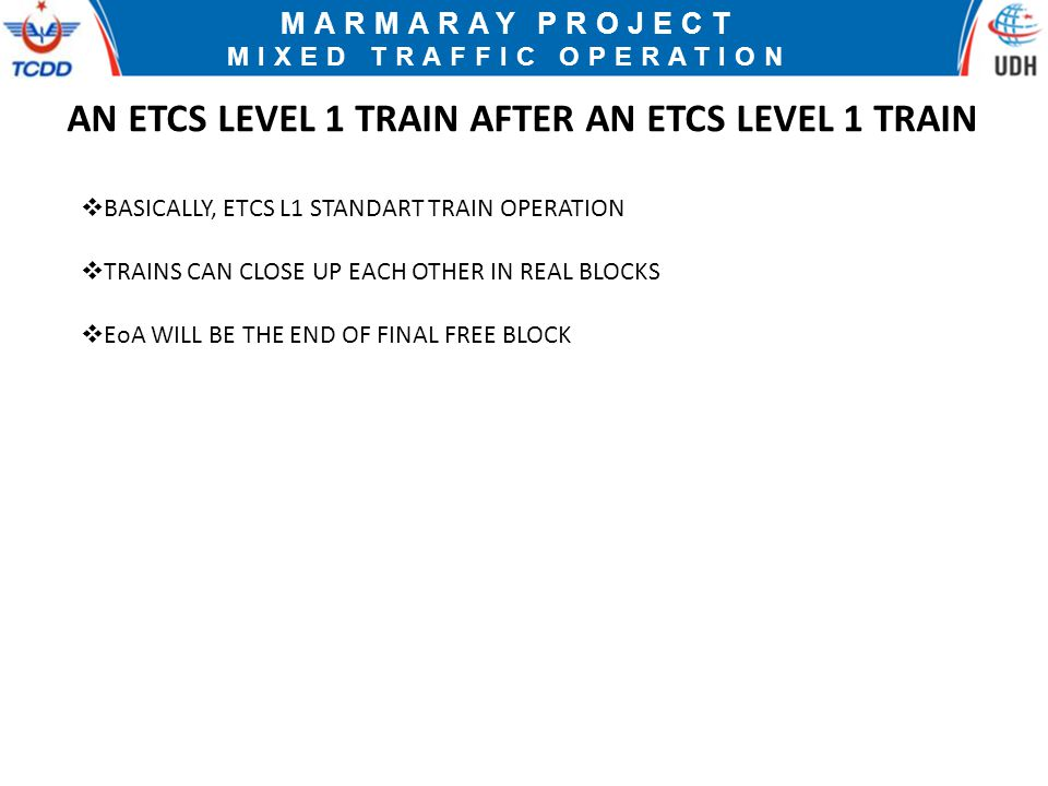 AN ETCS LEVEL 1 TRAIN AFTER AN ETCS LEVEL 1 TRAIN