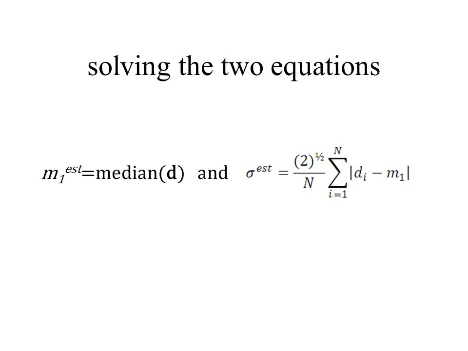 solving the two equations