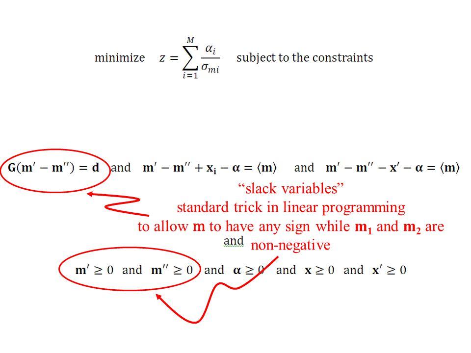 standard trick in linear programming
