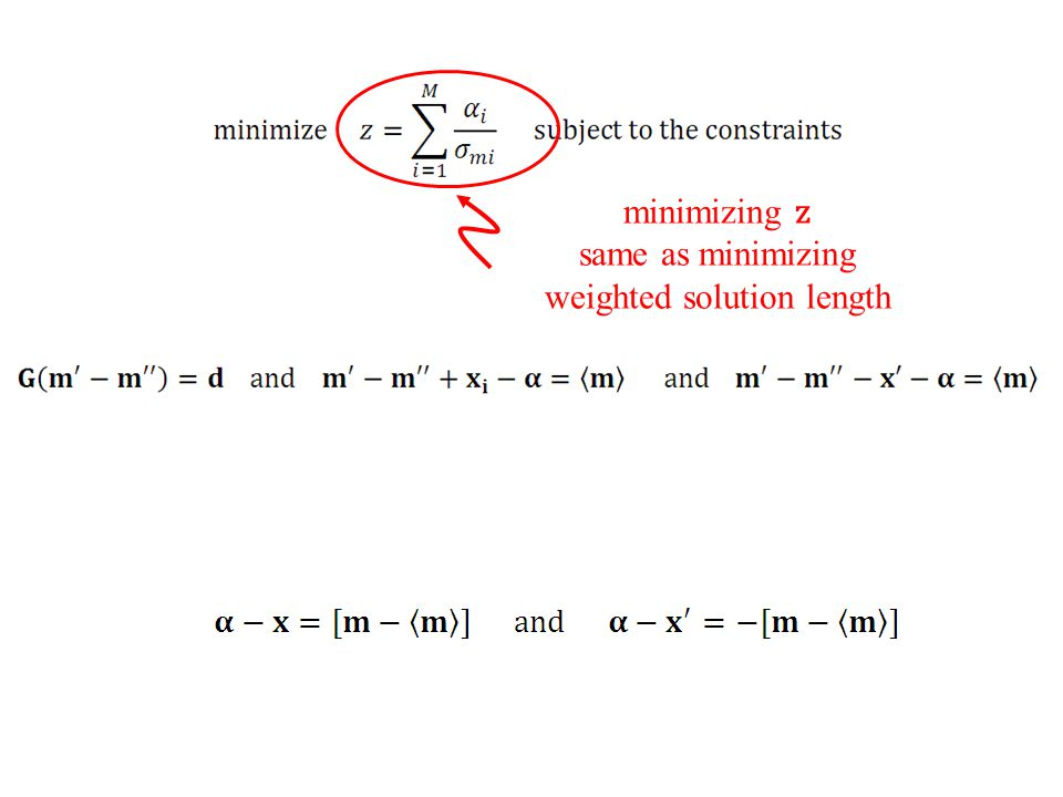 same as minimizing weighted solution length