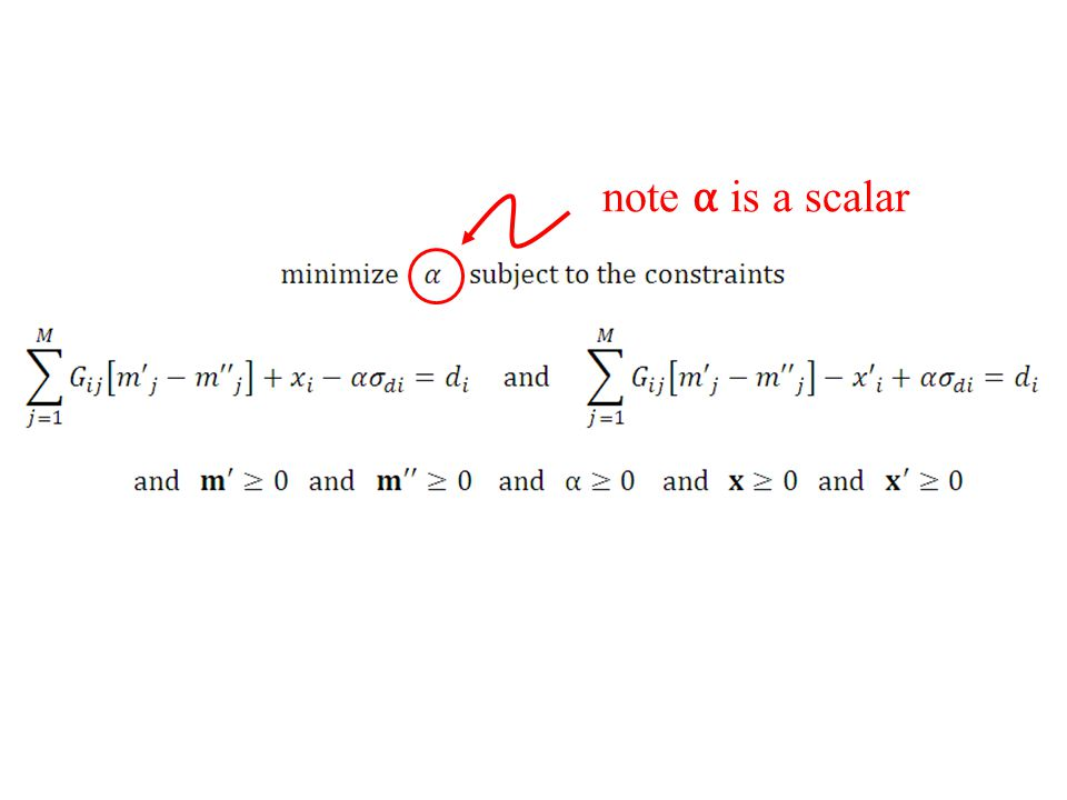 note α is a scalar Except that alpha is a scalar, not a vector ...