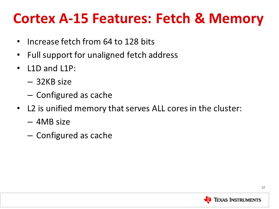 Cortex A-15 Features: Fetch & Memory