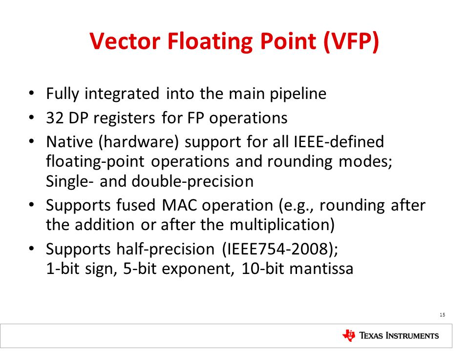 Vector Floating Point (VFP)