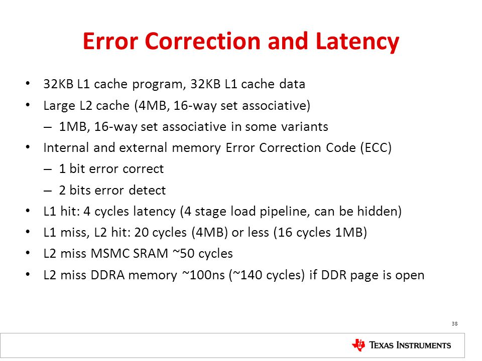 Error Correction and Latency