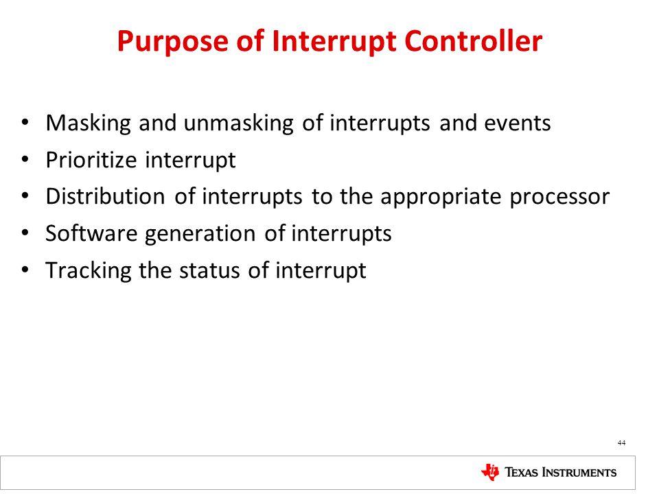Purpose of Interrupt Controller