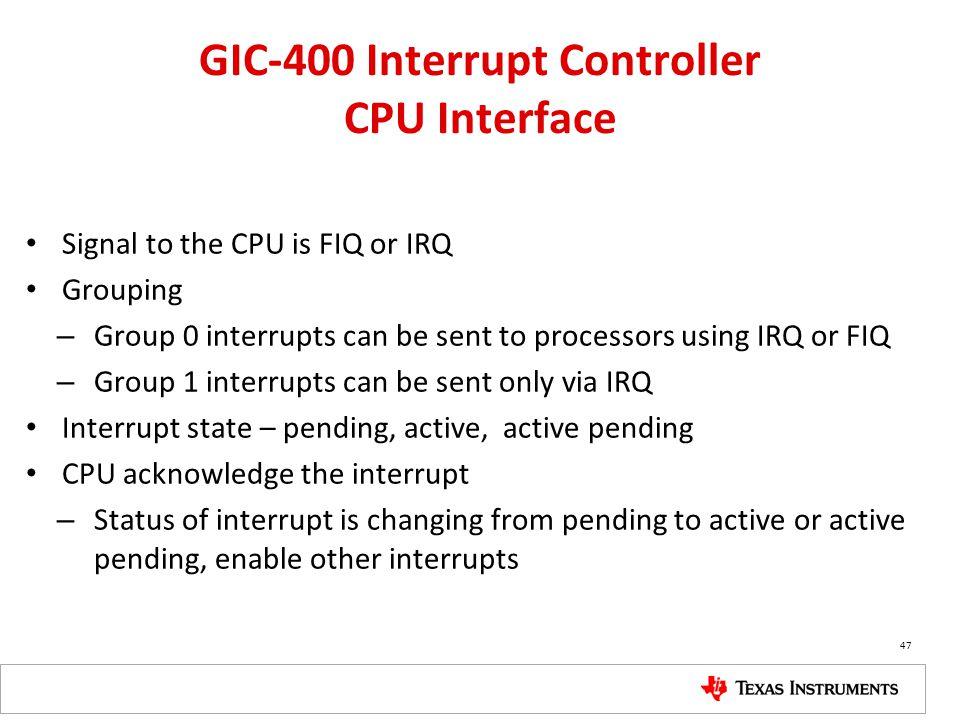 GIC-400 Interrupt Controller CPU Interface