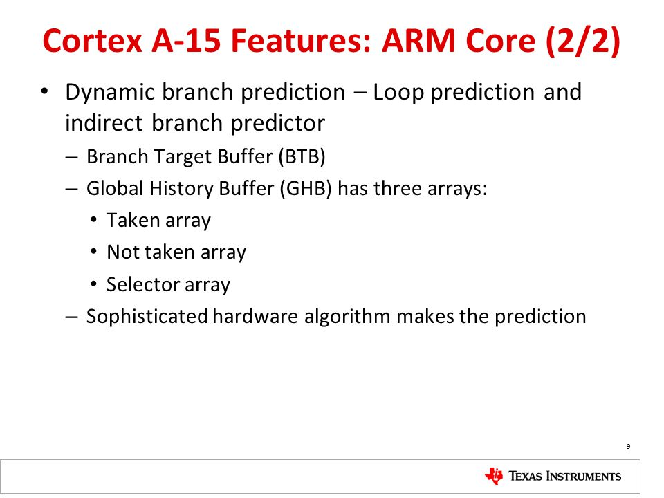 Cortex A-15 Features: ARM Core (2/2)