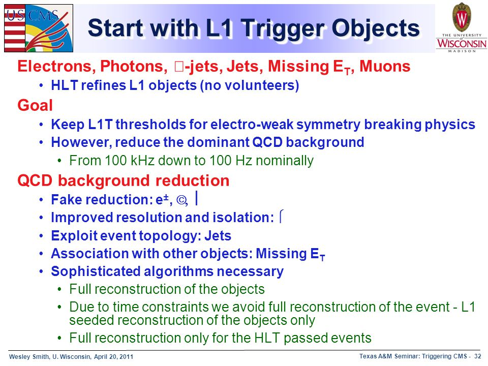 Start with L1 Trigger Objects