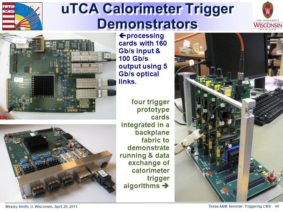 uTCA Calorimeter Trigger Demonstrators