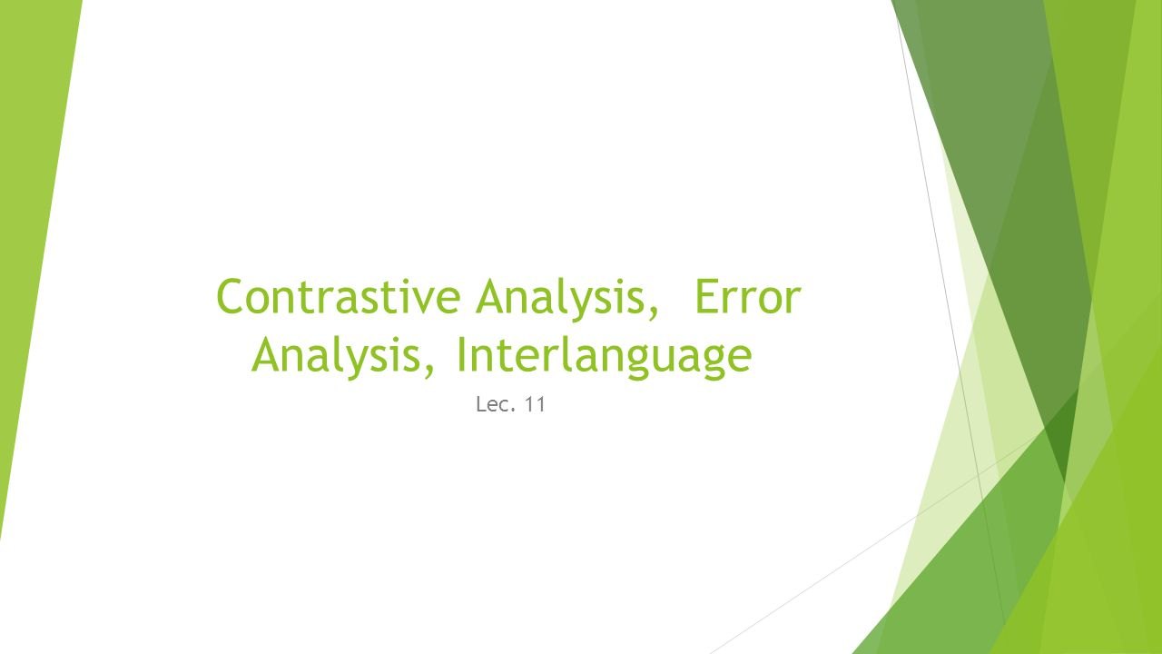 differences between cah and error analysis