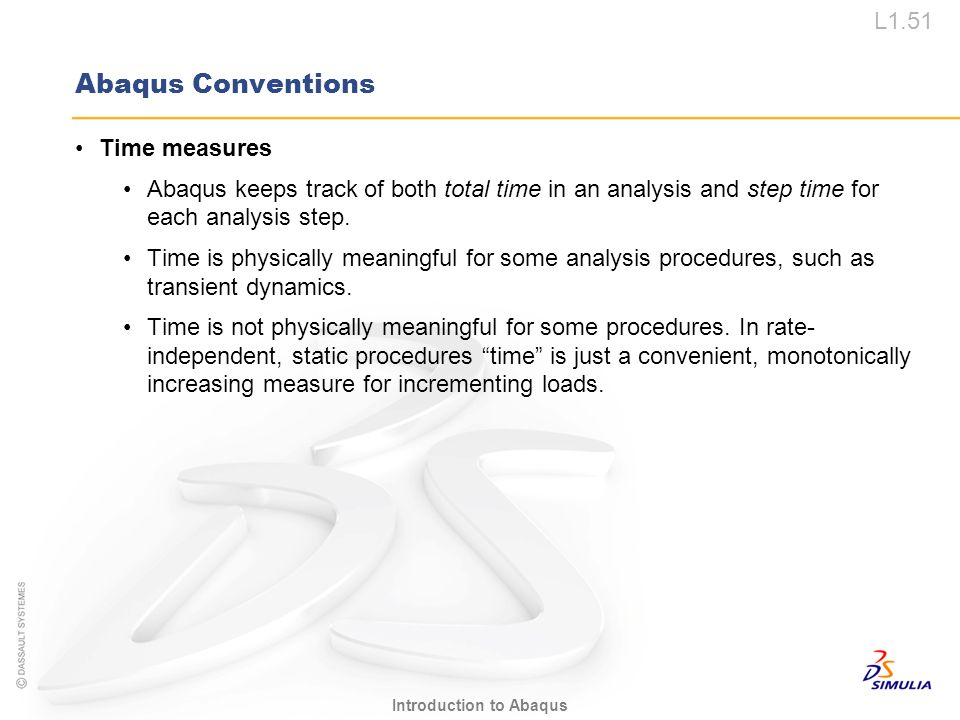 Abaqus Conventions Time measures