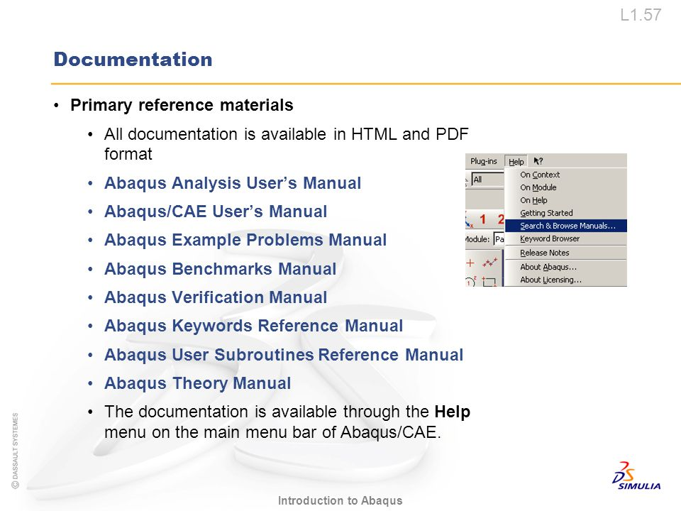 Documentation Primary reference materials
