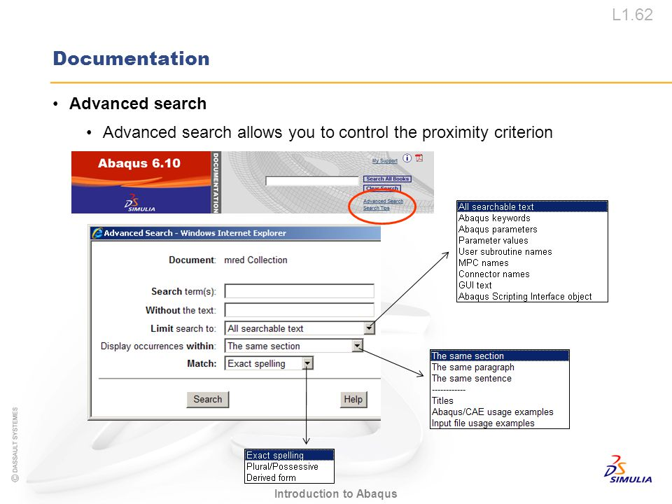 Documentation Advanced search