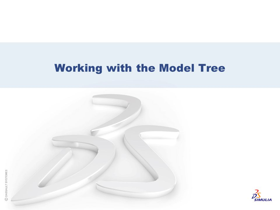 Working with the Model Tree