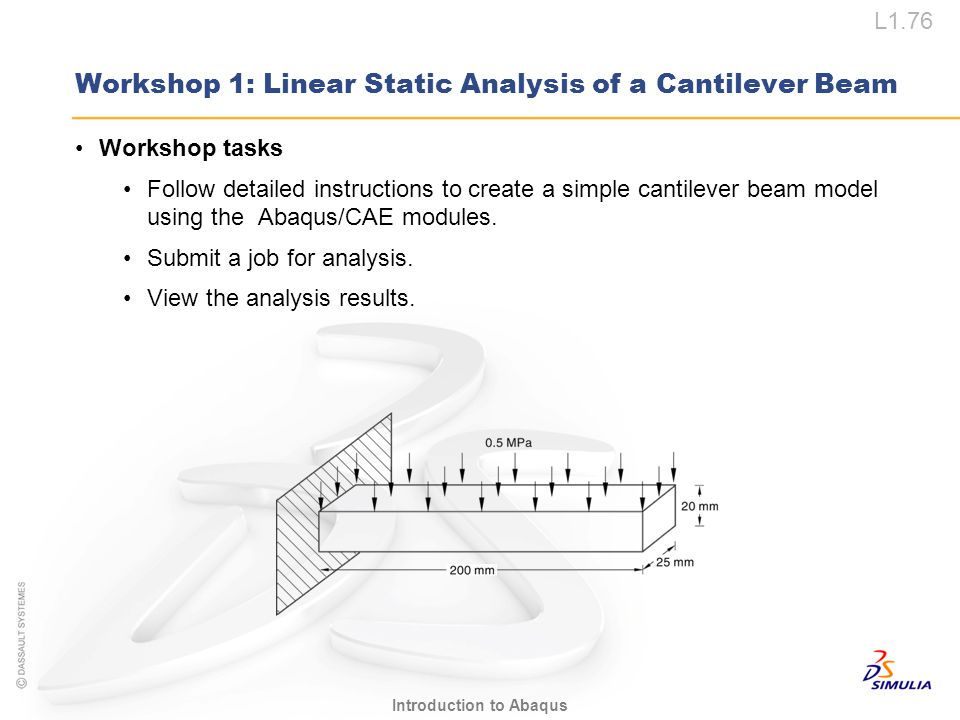 Workshop 1: Linear Static Analysis of a Cantilever Beam