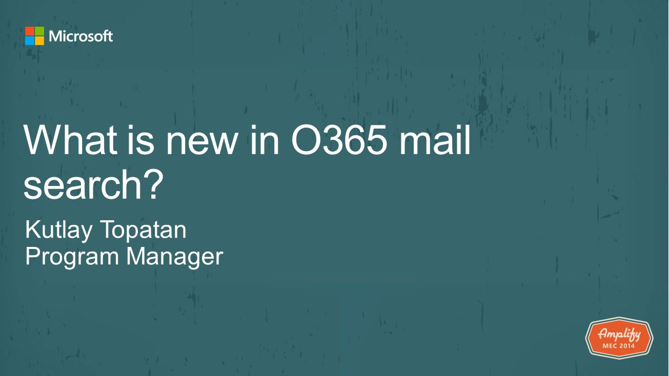 What is new in O365 mail search