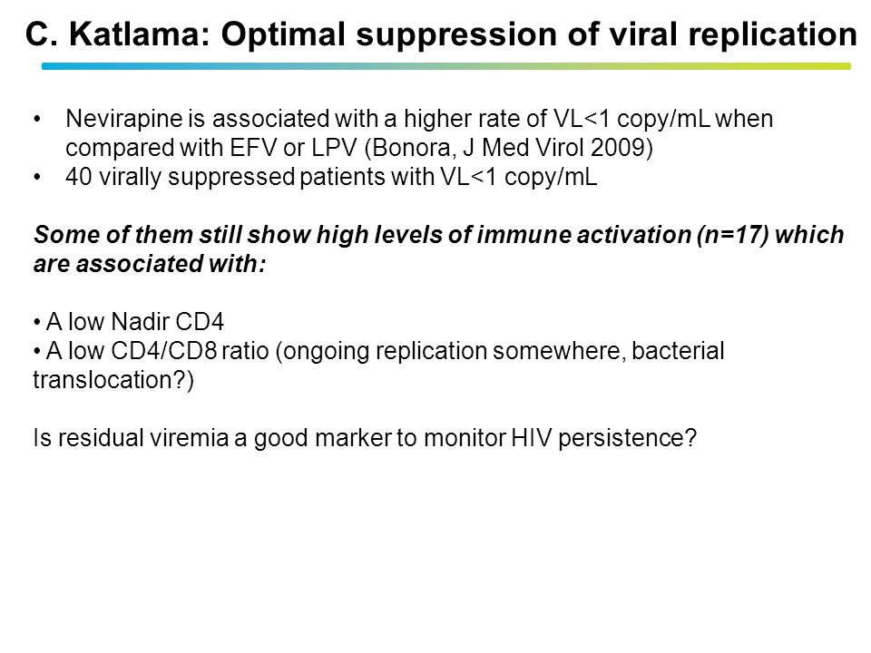C. Katlama: Optimal suppression of viral replication