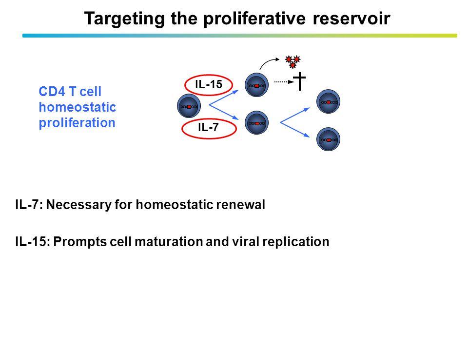 Targeting the proliferative reservoir
