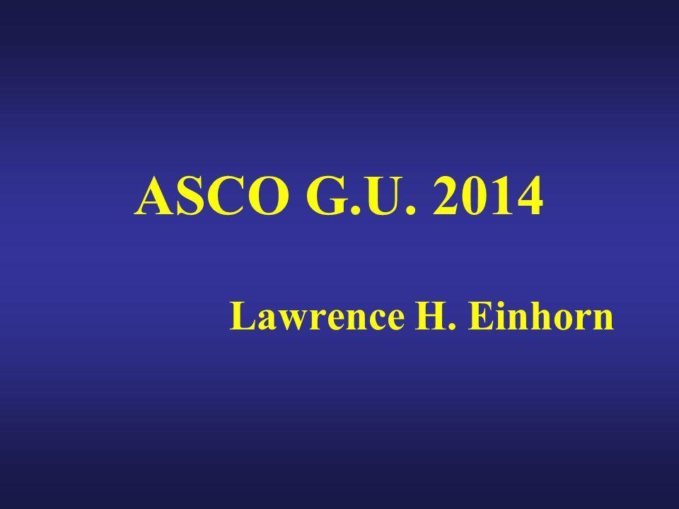 ASCO G.U. 2014 Lawrence H. Einhorn