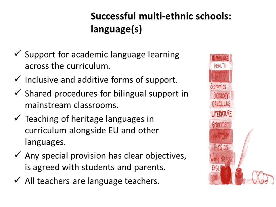 Successful multi-ethnic schools: language(s)