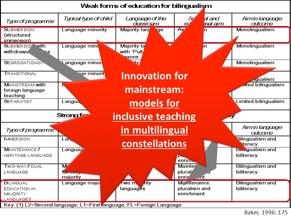 Innovation for mainstream: models for inclusive teaching in multilingual constellations