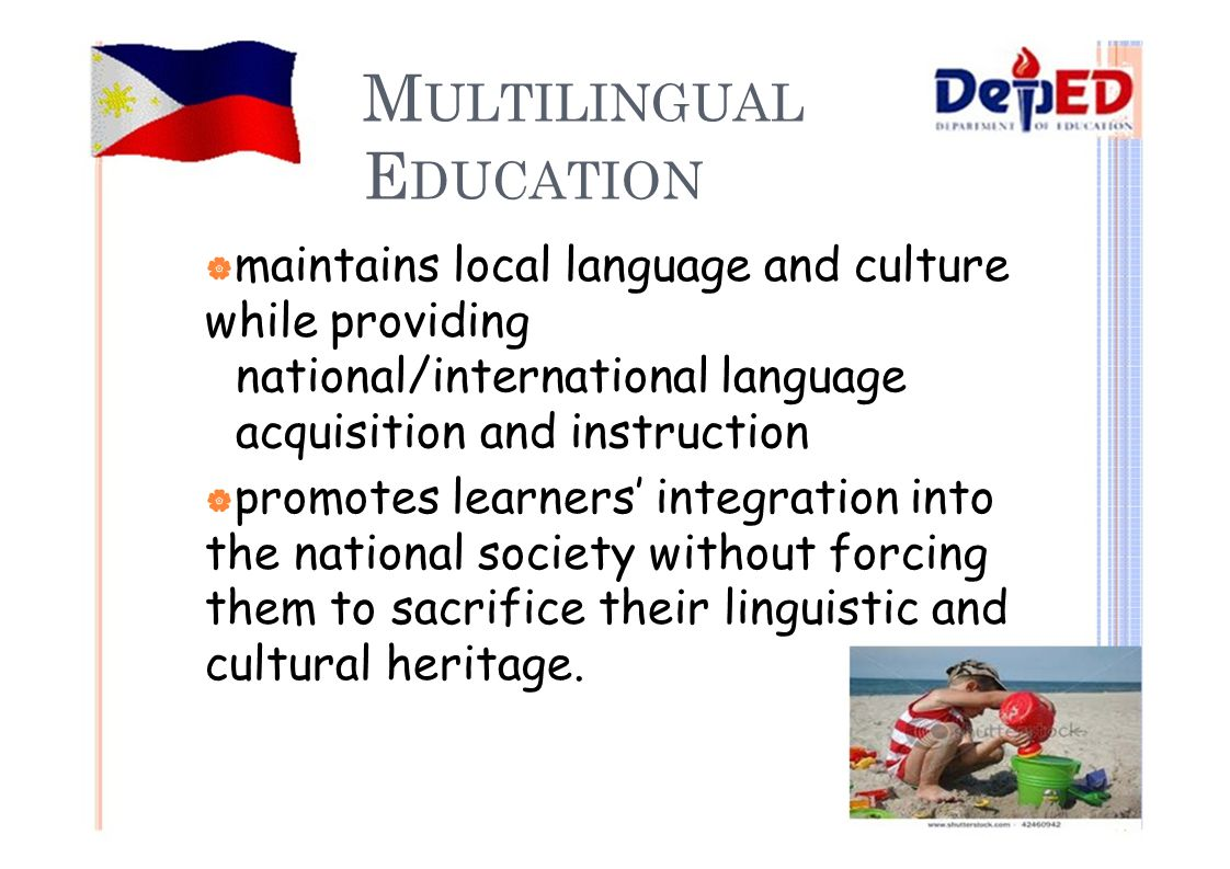 mother tongue based multilingual education
