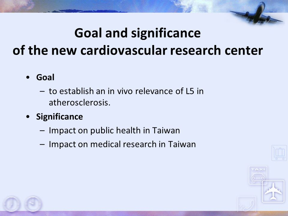 Goal and significance of the new cardiovascular research center