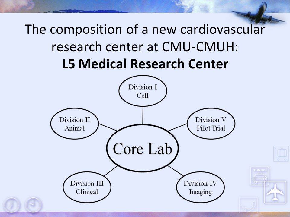 The composition of a new cardiovascular research center at CMU-CMUH: L5 Medical Research Center