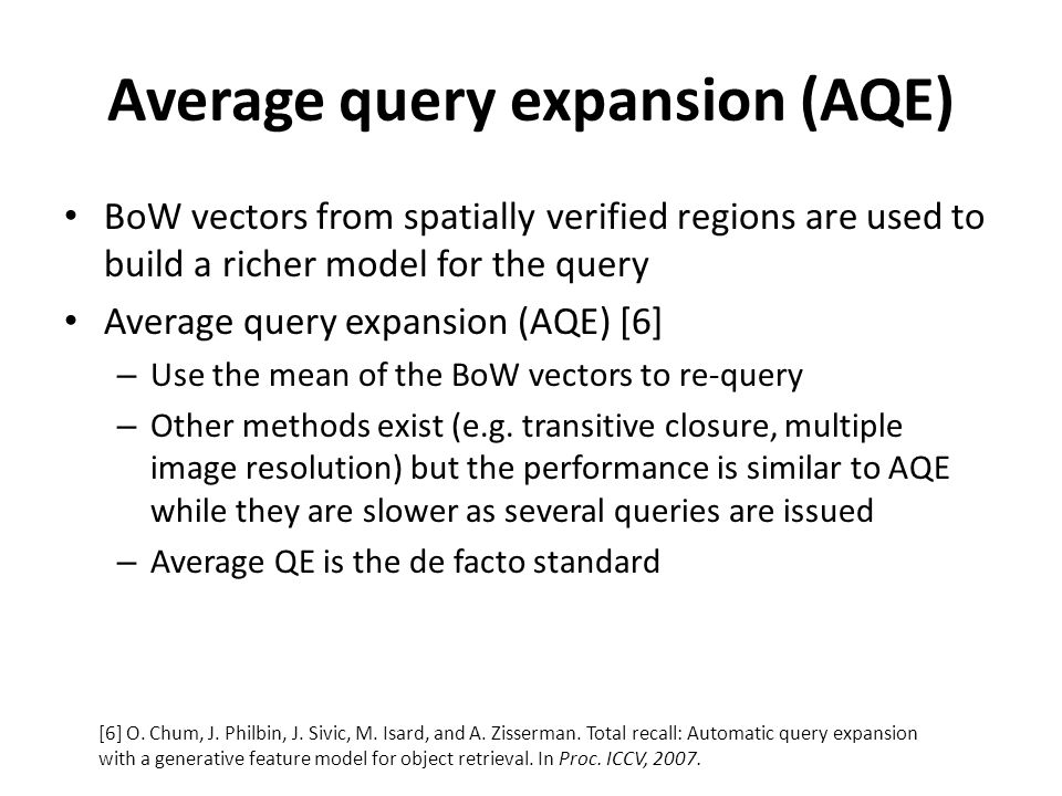 Average query expansion (AQE)