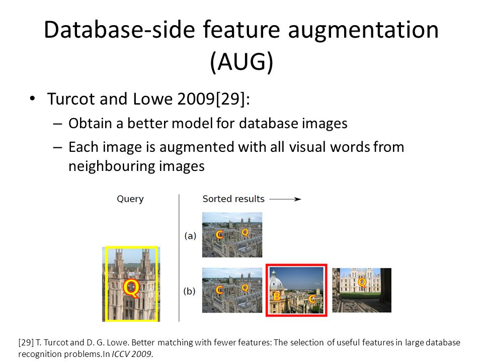 Database-side feature augmentation (AUG)