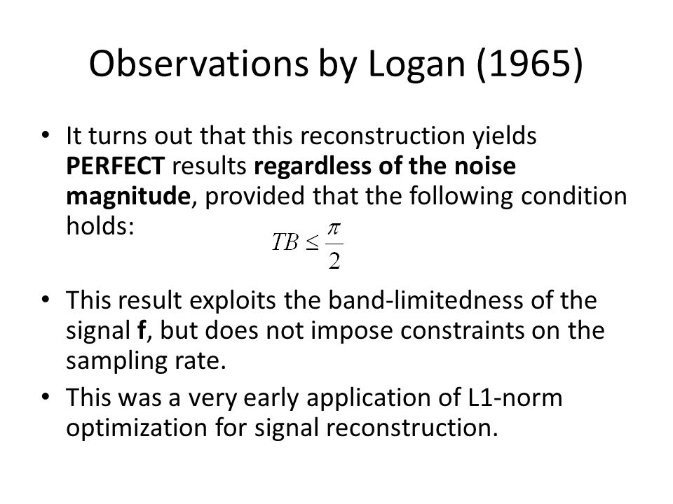 Observations by Logan (1965)