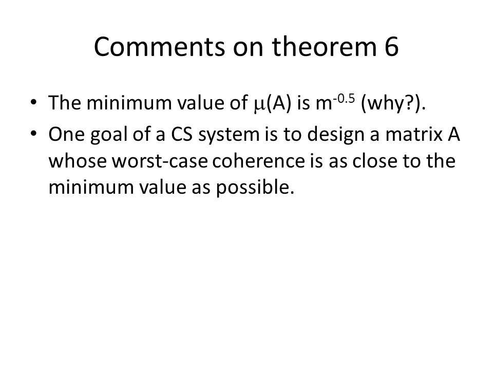 Comments on theorem 6 The minimum value of m(A) is m-0.5 (why ).